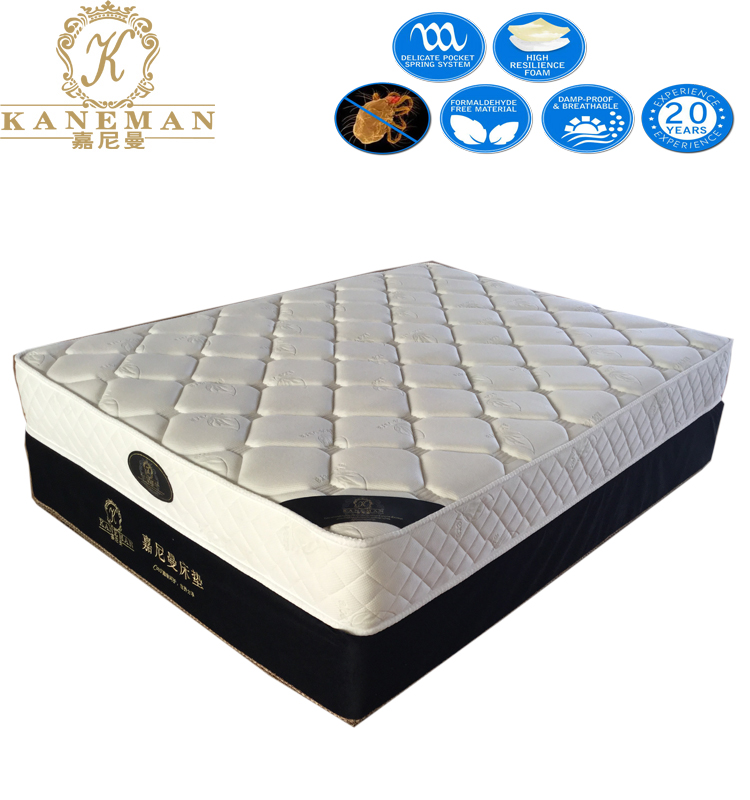 Flat Compress Cheap Price High Density Foam With Continuous Coil Spring Mattress - Jozy Mattress | Jozy.net