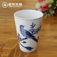 Novelty 350ml Hand Painted Ceramic Tea Cups
