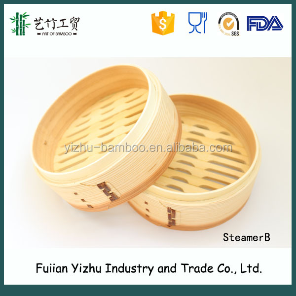 High Standard food steamer Chinese Fir Steamers with Round shape