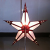 Cut out red edge laser paper star lantern lampshade