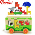 Animal bus wholesale educational diy wooden jigsaw puzzle games