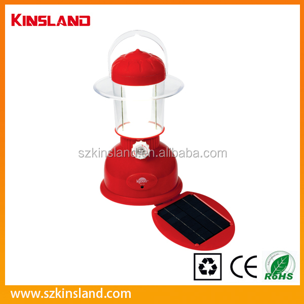 Rechargeable solar camping Emergency Lantern with solar panel