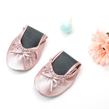 High quality Customized printed foldable flats wedding gift ballerina for guest