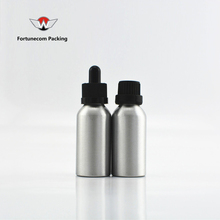 30 ml aluminium dropper bottle with black cap and insert 50ml aluminium bottles