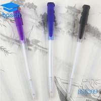 Hot arab six pen/uv light pen in ball pen with clear plastic