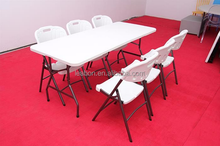 High quality and cheap plastic HDPE folding table and chair for sale