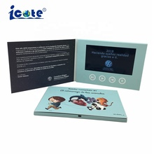 7.0 Inch LCD Video Screen Video Brochure <strong>Card</strong> For Company Advertising