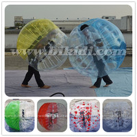 2015 hot sale CE standard PVC or TPU bubble soccer/football zorb/knocker ball