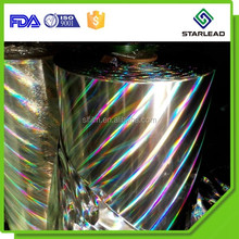 30 Mic Metallic Holographic PET BOPP Film for Paperboard Lamination