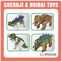 DIY intelligent set plastic 3d dinosaur puzzle