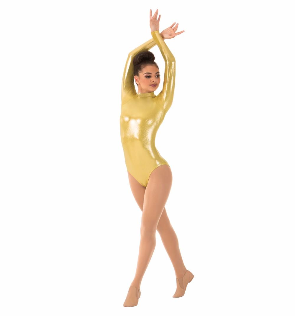 Women\`s Long Sleeve Gymnastics Leotards (4)