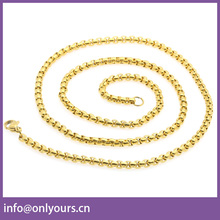 2017 New arrival fashion gold long chain latest design pearl necklace