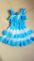 2014 made in china fashionable chiffon&lace beautiful children dresses for girls petti tutu summer