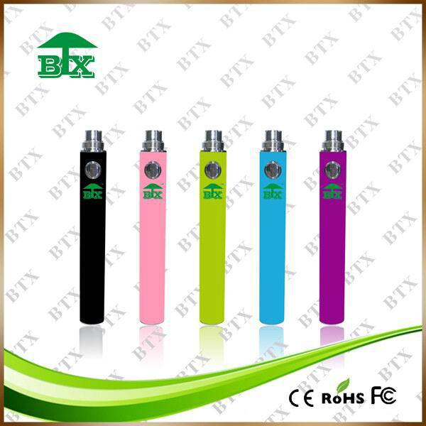 2017 Alibaba e cigarette vape pen battery 510 thread battery Evod 650mAh Battery