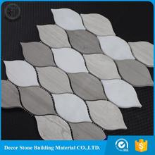 Factory price hot sale leaf glow in the dark mosaic tile manufacturer
