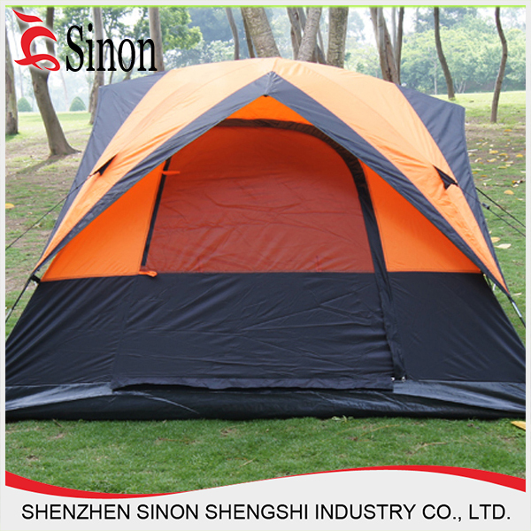 shenzhen double 4person orange extra large camping luxury tent
