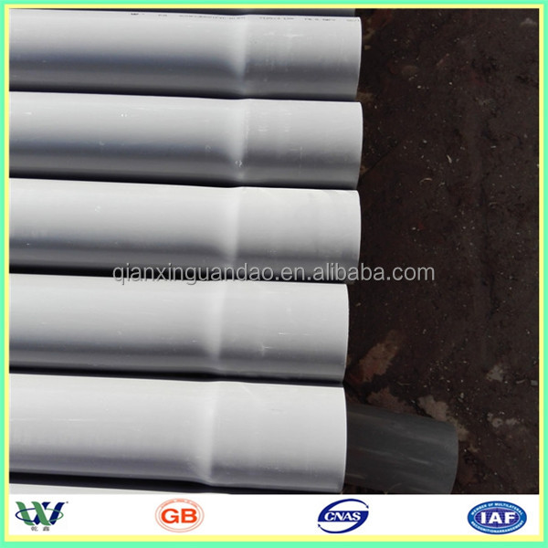 gray/white pipe pvc 450mm for water / irrigation supply