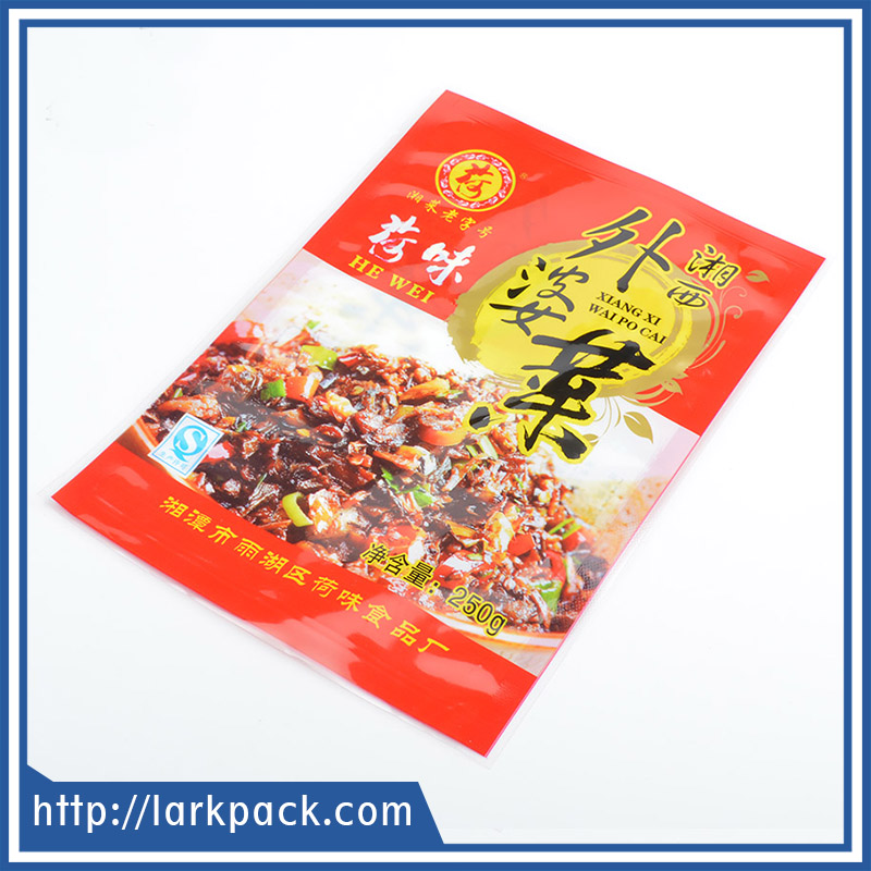 Plastic OPP PE material printed modern design food packing compound bad