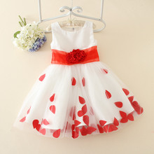 Summer girl princess dresses pearls indian wedding dresses girls for small size girls