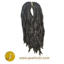 Black African Synthetic Hair Crochet Braids Japanese Fiber