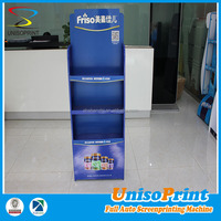 OEM produce impact resistent and light up metal dry milk floor display stand