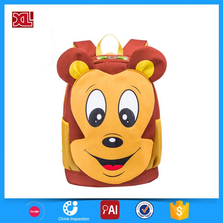 Factory Popular ingenious backpack bag for primary girl cartoon picture of school bags