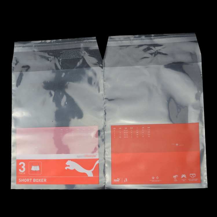Colorful poly carry clear resealable plastic bags