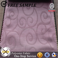 cheap polyester Blackout curtain embossed fabric