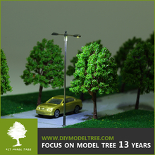 Scale models, scale miniature tree, car, lamp and figure model for scale Landscape layout(S1)