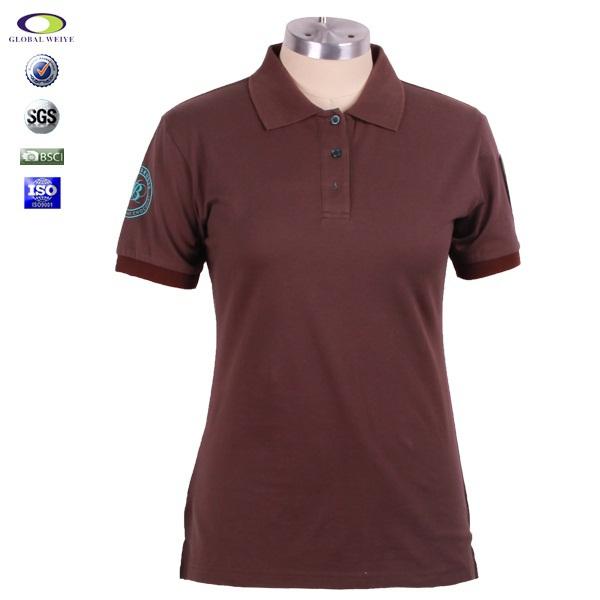 China factory cheap women 39 s office uniform design polo for Polo shirt uniform design