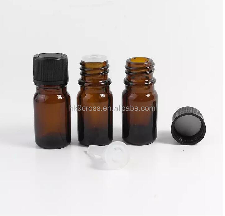 tube glass container 15ml amber glass bottle with Euro dropper for liquid and essentail oil