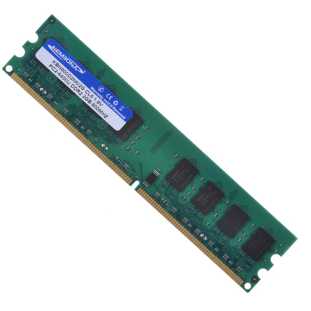 Non Ecc Unbuffered 1.8V CL6 240 Pin Desktop PC Computer Memory Ram 2GB DDR2 800MHZ PC2-6400