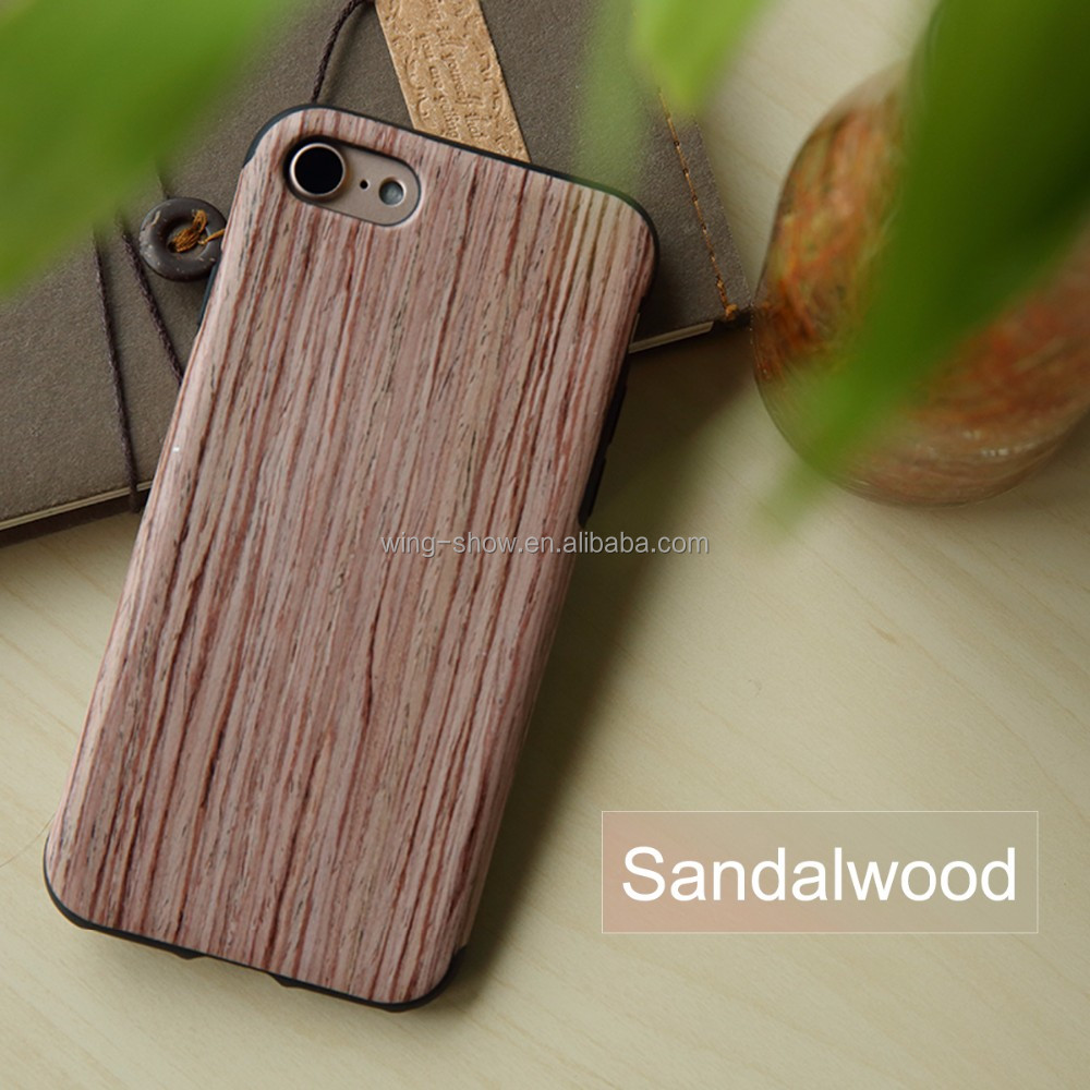 Newest Rock Element Series Wood TPU Ultra Thin shockproof phone Case For Iphone 7/7 plus