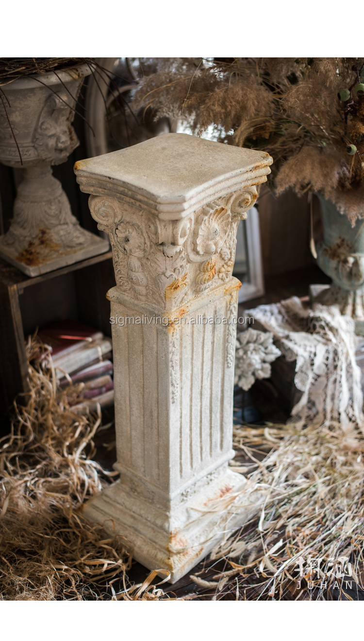 Roman column classical decoration  flower stand