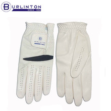 Premium Cabretta Leather White Men's Golf Glove