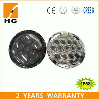 2015 New 7 inch round led headlight for jeep wrangler with daytime running light