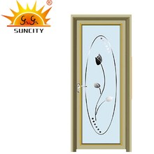 SC-AAD012 Modern Simple Powder Coated Aluminum Door Picture, China Aluminum Frame Door Price