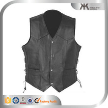 Custom Fashion Mens Biker/Motorcycle Leather Vest/Leather Waistcoats