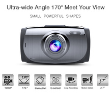 Wide Angle 170 Degrees 2.7 Inch novatek 96650 manual car camera full hd car dvr with 6 Glass Lens