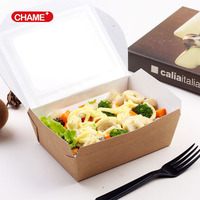 disposable take away kraft paper lunch box/food container