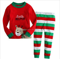 Santa Christmas Pajamas Top And Stripe Bottom Christmas Pajamas