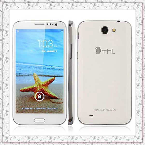 THL new product W7 5.7 Inch HD IPS Screen 1.0GB RAM Android 4.2.1 MTK6577 dual cores 3G WCDMA 4GB ROM Dual sim smart phone