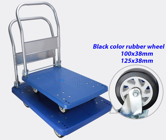 300kgs foldable warehouse heavy duty plastic platform hand dolly