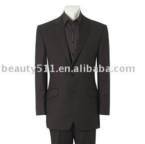 Men's Brown Stripe Two Button Suit mr-11