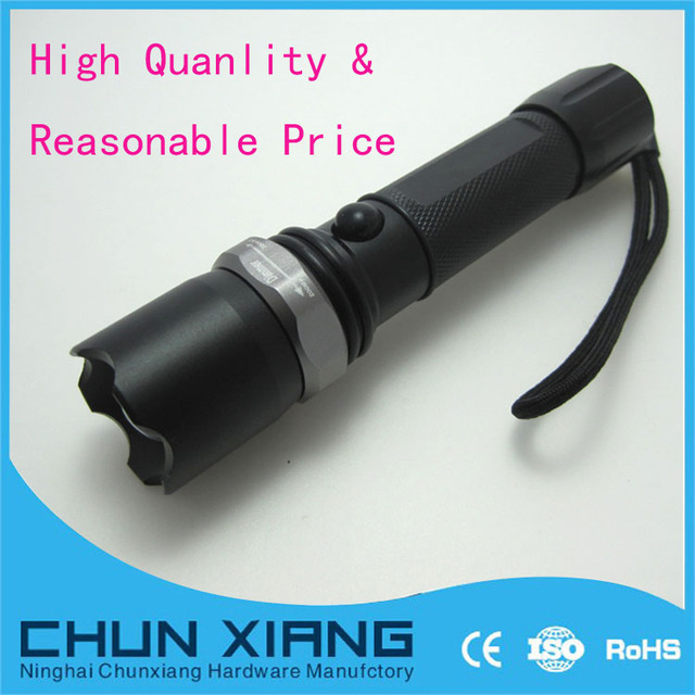 CREE zoom rechargeable torch 3w cree q3/q5 led flashlight