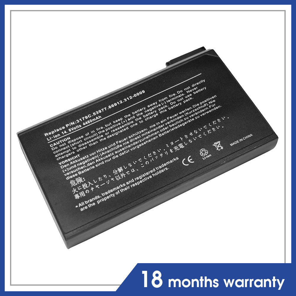 14.8V 8cell External Notebook Battery for Dell Latitude CPI CPID Inspiron 2500, 4000, 4100,3179c 6H410 Latitude C600 C610