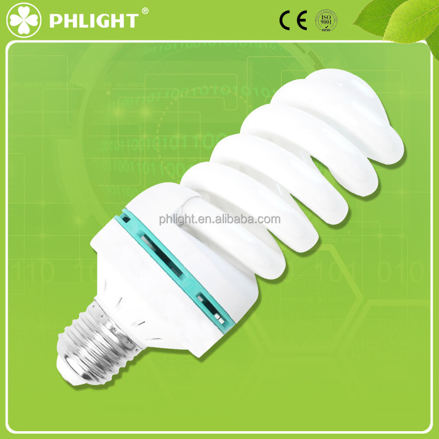 Factory make Middle circles full spiral CFL T4 40W E27 with cheap price
