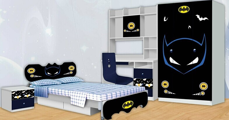 hot verkauf spiderman batman kinderm bel kinder schlafzimmer m bel sets billige kinderm bel set. Black Bedroom Furniture Sets. Home Design Ideas