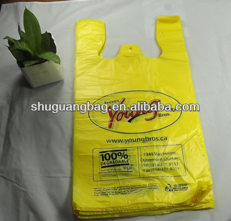 2017 hot sale cheap hdpe shopping bag plastic t-shirt packaging bags supermarket bag