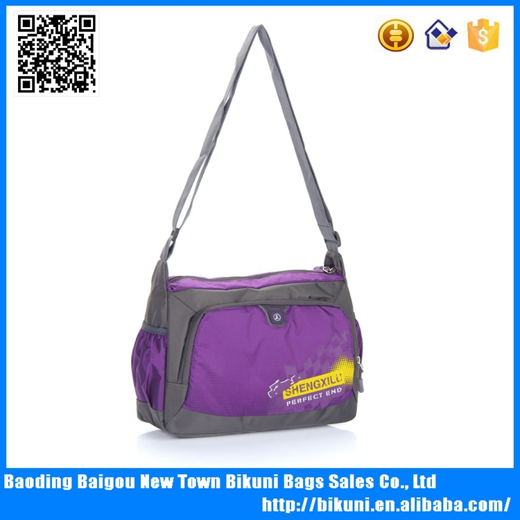 New arrival nylon cheap single strap school messenger bag for girls
